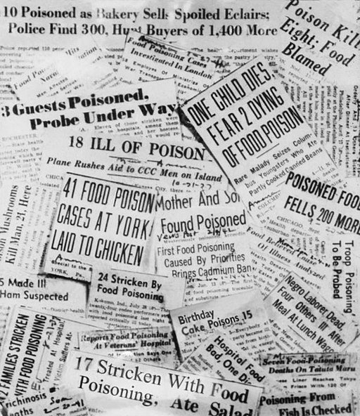 Food poisoning newspaper headlines