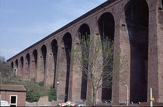South Eastern main line - The viaduct over the Foord Gap
