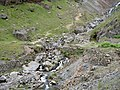 Footbridge and waterfall below Grey Crag - geograph.org.uk - 1373215.jpg