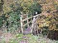 Footbridge on path into Mere Sands Wood - geograph.org.uk - 1037503.jpg