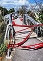 Footbridge over the Avon River, damaged in the 2010 Canterbury earthquake.jpg
