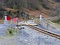Footpath crossing the Welsh Highland Railway - geograph.org.uk - 1382589.jpg