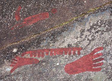 Footprints at Cobbler's Cliff Backa Brastad.jpg