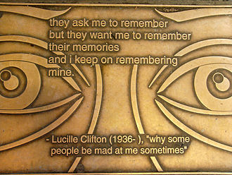 Lucille Clifton - Plaque outside the New York Public Library