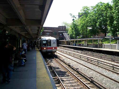 Fordham station on the Metro-North Railroad (photo by James Haynes via Wikimedia Commons)