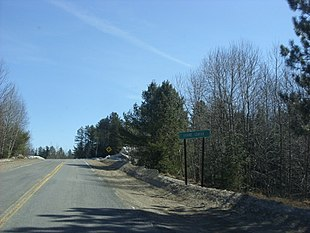 Former NYS Rt. 99 in Duane Center, NY