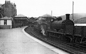 Fort William railway station - The original station in 1957