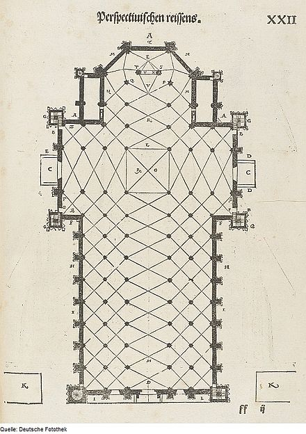 Plan of the Cathedral in the 16th century Fotothek df tg 0000071 Architektur ^ Geometrie ^ Grundriss ^ Mailander Dom.jpg