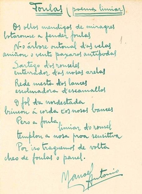 Foulas (poema limiar) Manoel Antonio
