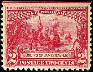 Pamiętnik handlowca - Jamestown landing 1907 issue
