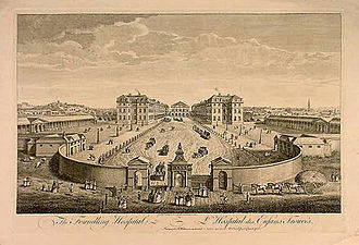 Charitable organization - The Foundling Hospital. The building has been demolished.