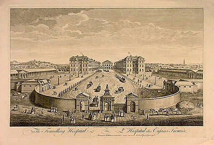 The Foundling Hospital. The building has been demolished. Foundling Hospital.jpg