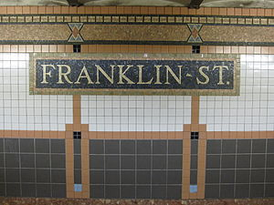 Franklin Street (IRT Broadway–Seventh Avenue Line) - Station identification mosaic