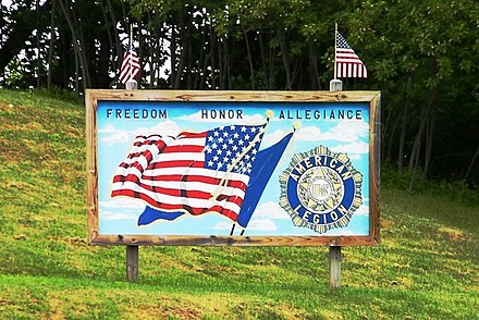 American Legion sign in Maine Freedom Honor Allegiance sign.jpg