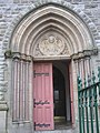 Front right entrance door, Sacred heart Church - geograph.org.uk - 1031879.jpg