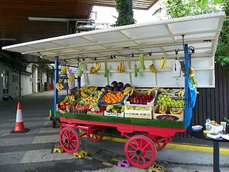 Walford - The fruit and veg stall from Bridge Street Market