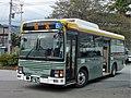 Fujikyu Yamanashi Bus F3672 at Saruhashi Station.jpg