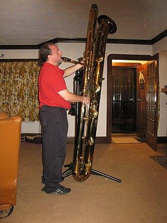 Subcontrabass saxophone - An Eppelsheim Full-size Subcontrabass Saxophone