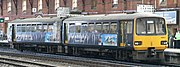 A class 143 in Advertising vinyls for the city of Bristol