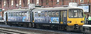 Wessex Trains - A class 143 in Advertising vinyls for the City of Bristol