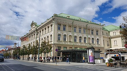 Former municipality building in Gediminas Avenue, used until 2004, now is a shopping mall GO9 GO9 2019 2.jpg