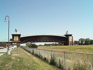 """The <a href=""""http://search.lycos.com/web/?_z=0&q=%22Great%20Platte%20River%20Road%20Archway%20Monument%22"""">Great Platte River Road Archway Monument</a>, which spans <a href=""""http://search.lycos.com/web/?_z=0&q=%22Interstate%2080%22"""">Interstate 80</a>"""