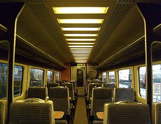 Grand Central (train operating company) - Mark 3 standard class interior
