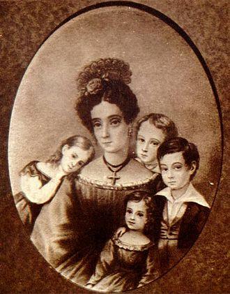Martim Francisco Ribeiro de Andrada - Gabriela Frederica Ribeiro de Andrada and children