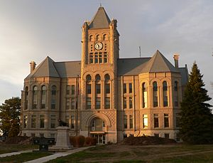 U.S. Route 136 in Nebraska - Gage County Courthouse in Beatrice, Nebraska along 6th St six blocks north of US 136