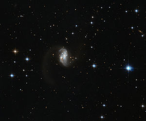 Galaxy merger - Image: Galactic glow worm