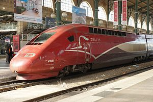 Photograph of a Thalys train