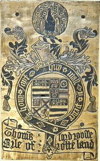 Thomas Manners, 1st Earl of Rutland - Garter stall plate of Thomas Manners, 1st Earl of Rutland, St George's Chapel, Windsor Castle