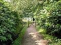 Gateway on Footpath between Longshaw Lodge and Lake - geograph.org.uk - 650351.jpg