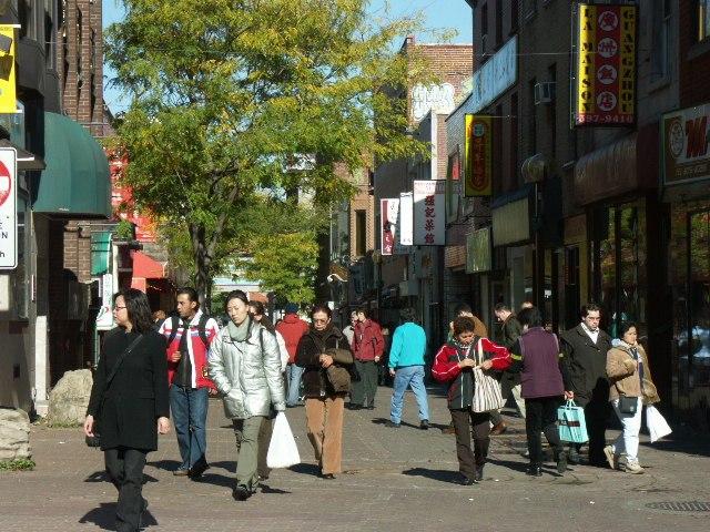 Gauchetière Street, pedestrian section (take 2), Montreal 2005-10-21