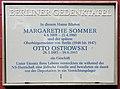 Gedenktafel Westfälische Str 64 Margarethe Sommer.JPG