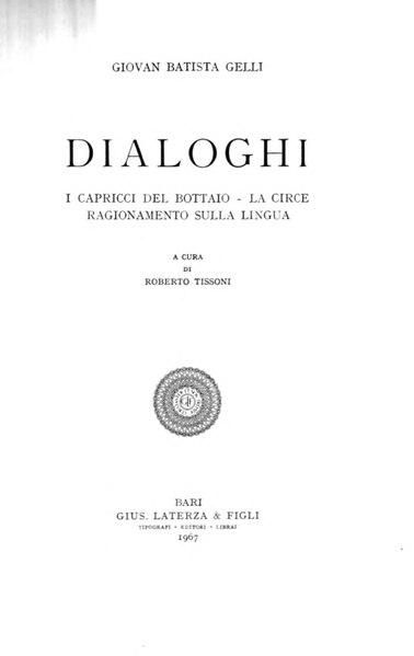 File:Gelli, Giovan Battista – Dialoghi, 1967 – BEIC 1826503.djvu