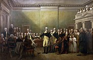 """General George Washington Resigning His Commission"" (1824) by John Trumbull"