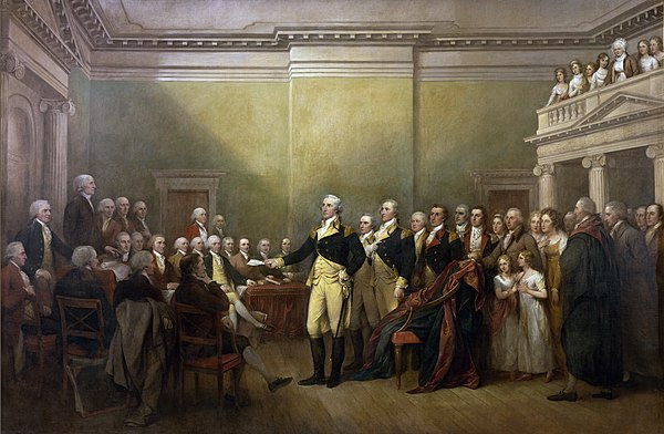 General George Washington Resigning His Commission General George Washington Resigning his Commission.jpg