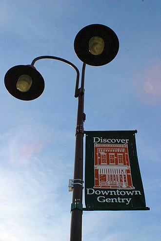 Gentry, Arkansas - Lamppost in Downtown Gentry, Arkansas