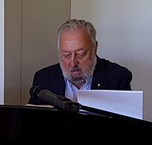 Geoff Harvey playing piano at the Gibraltar Hotel, Bowral on Christmas Day 2018