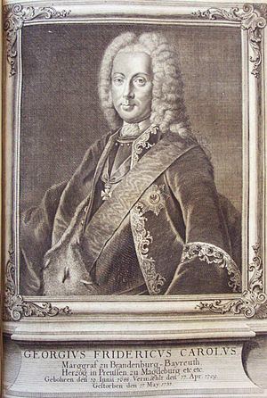 George Frederick Charles, Margrave of Brandenburg-Bayreuth - Image: Georg Friedrich Carl