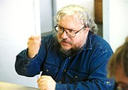 Teaching at Clarion West, 1998.