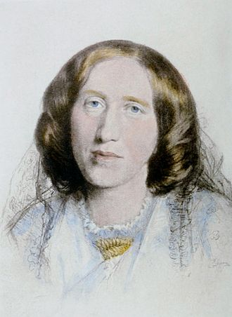 George Eliot - Portrait by Frederick William Burton, 1864