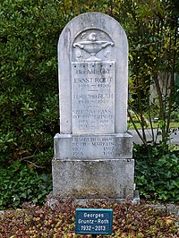 George Gruntz (1932–2013) Jazz-Pianist, Komponist, Arrangeur, Bandleader. Grab auf dem Friedhof Wolfgottesacker, Basel.jpg