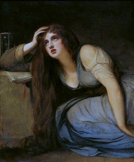 George Romney - Lady Hamilton as The Magdalene