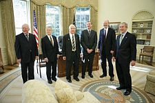 George W. Bush meets with the 2005 Nobel Prize recipients.jpg
