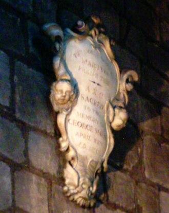 George Marsh (martyr) - Memorial plaque, St John the Baptist's Church, Chester
