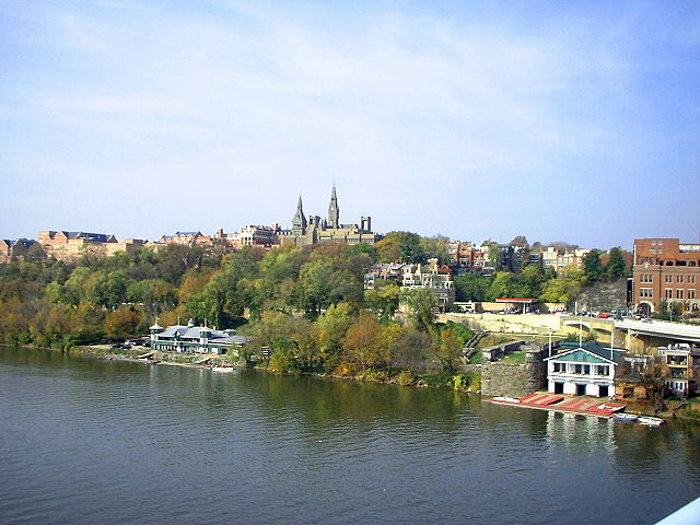 Georgetown University campus from the Key Bridge 2006