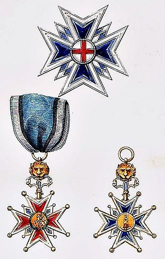 Royal Order of Saint George for the Defense of the Immaculate Conception - Image: Georgsorden Bayern 1840