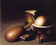Gerard Dou - Still life with a globe, books, and a lute - c. 1635.jpg